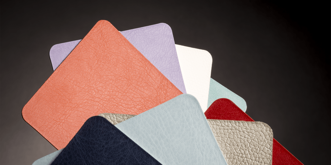 Tasselli di ecopelle in vari colori e finiture