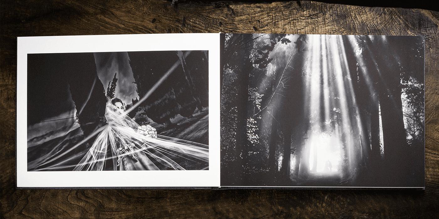 Fine Art Book. Album wedding stampato in Fine Art.