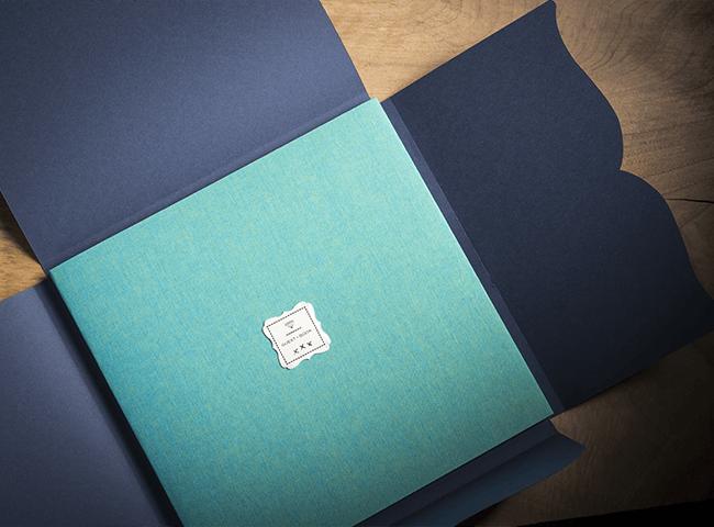 Guest Book per eventi in tela con interno in carta materica, ideale come scrapbook o per raccolta polaroid
